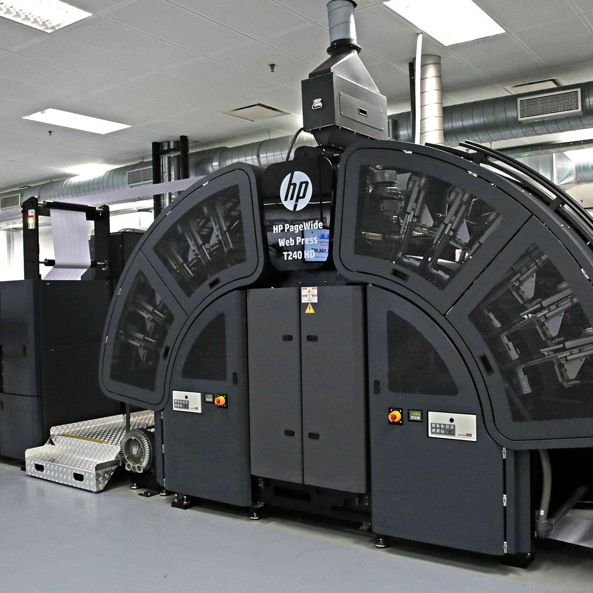 HP PageWide Web Press T240 HD Machine