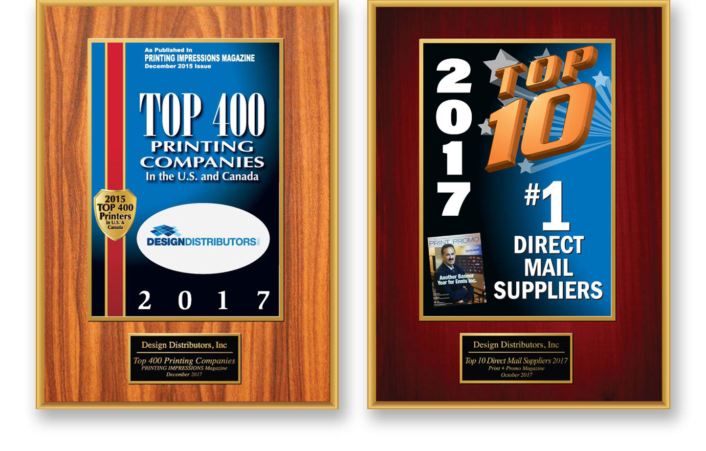 design distributors printing awards